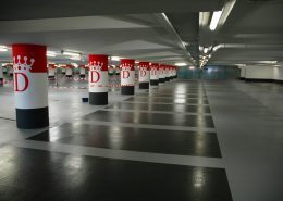 beton coating in parkeergarage