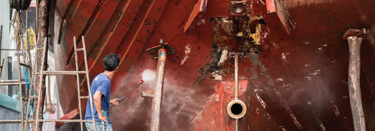 Coating verwijderen schip