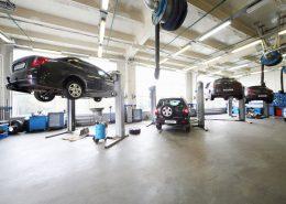 Automotive vloer. gietvloer, garagevloer