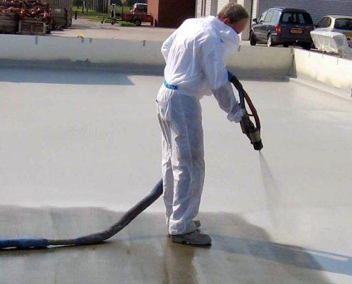 Polyurea coating, hot spray