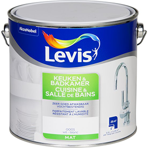Levis Muurverf Keuken & Badkamer Mat Wit 2,5 liter