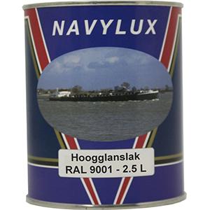 Navylux Hoogglanslak Bootlak RAL 9001 cremewit 2,5 L