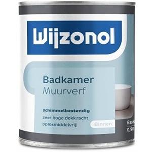 Wijzonol Badkamer Muurverf 1 Liter 3031 Early Dew binnen